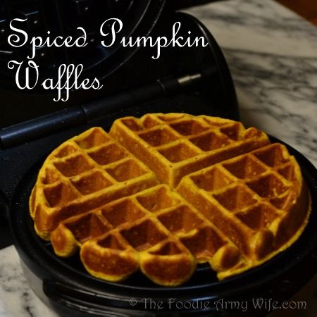 Spiced pumpkin waffles are a great way to bring the flavor of Autumn ...
