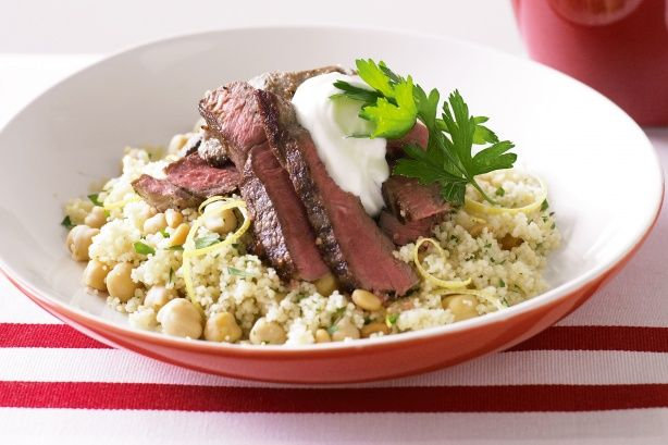 Moroccan lamb with chickpea and lemon couscous - I might try this with ...