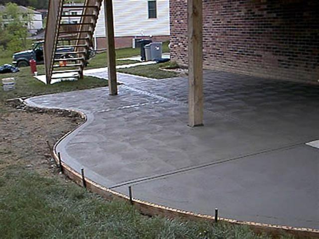 Concrete Patio Scalloped Shape House Pinterest