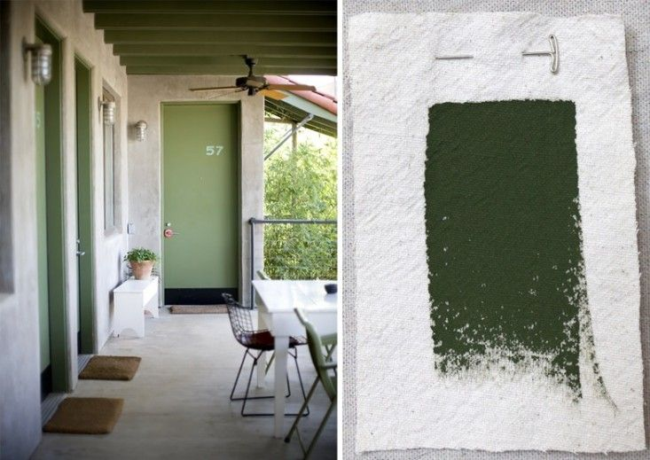 ... Outdoor Green House Paints, Sherwin-Williams Yew Hedge, Gardenista