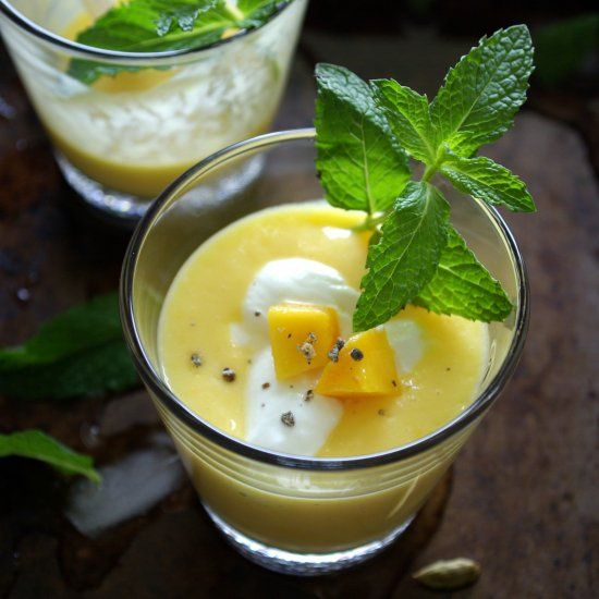 Mango lassi, a yogurt based sweet drink with the goodness of real ...
