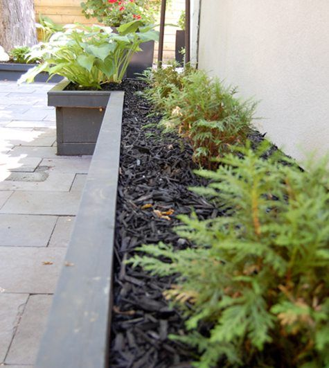 black mulch  Garden Ideas  Pinterest