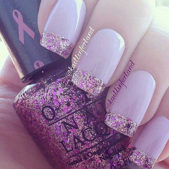 breast cancer special crackle x | Opi/Shellac lovely nails x | Pi