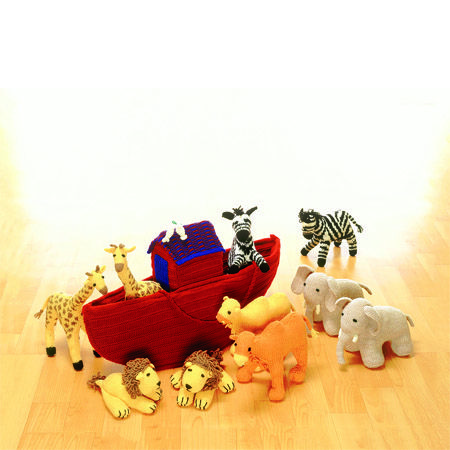 Knitted Noahs Ark and Animals