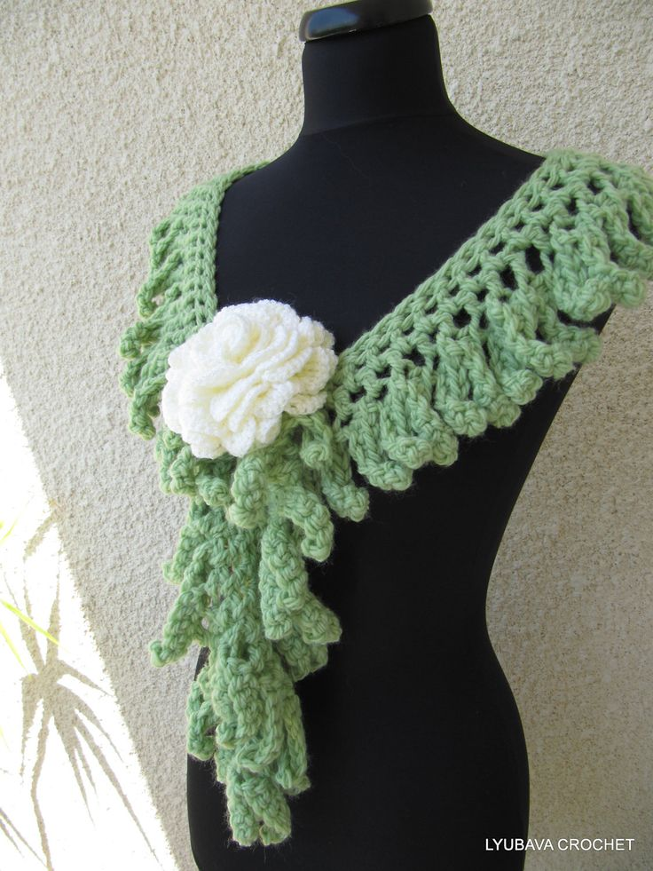 Crochet Patterns Unique : Crochet PATTERN - Crochet Lariat Scarf Chunky Fringe - Unique Crochet ...