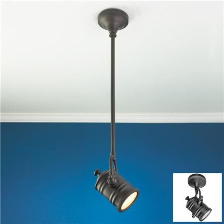 industrial spotlight flush mount convertible ceiling light available