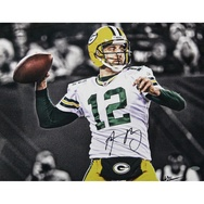 Aaron Rodgers - Green Bay Packers - B photograph signed by Aaron Rodgers and William Hauser