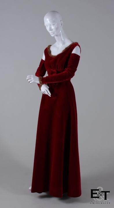 Garnet Red Velvet Dress, 1943