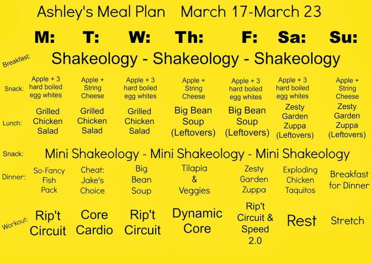 Focus T25 Meal Plan | Health | Pinterest