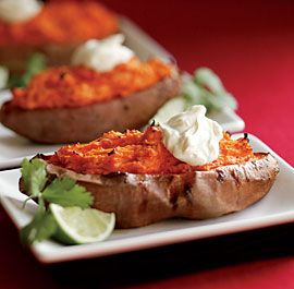 Twice-Baked Sweet Potatoes with Chipotle Chile | Recipe