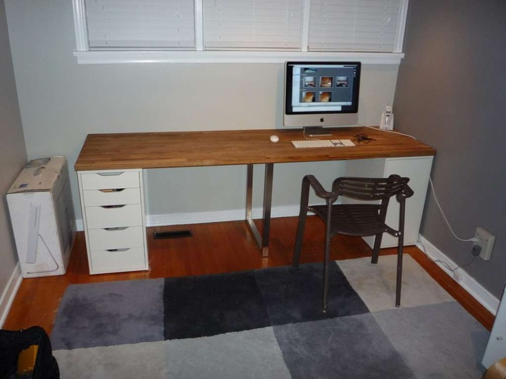 Countertop Desk : Ikea desk countertop hack For the Home Pinterest