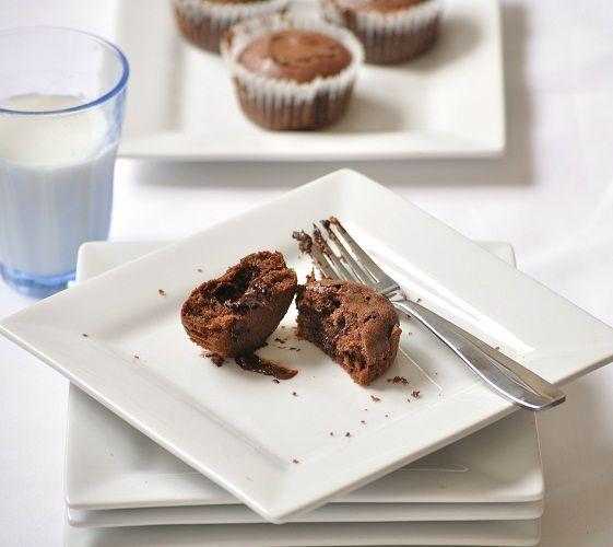 Molten chocolate cupcakes | Sweet Cravings!! | Pinterest