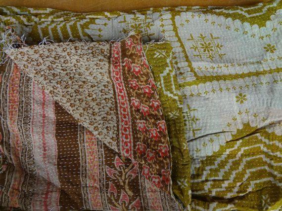 indian kantha vintage quilts by jaisalmerhandloom on Etsy, $55.00