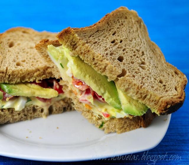 Avocado and egg sandwich. | Food, Glorious Food!!! | Pinterest