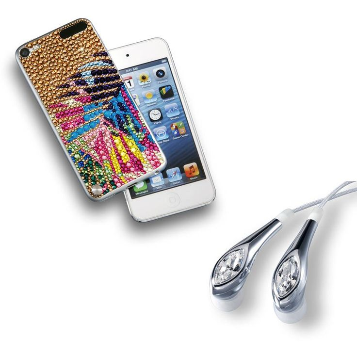Swarovski crystal ear buds and Crystallized phone case. : I want this ...