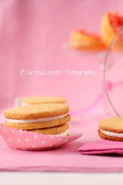 Pink Grapefruit Sandwich Cookies Recipe — Dishmaps