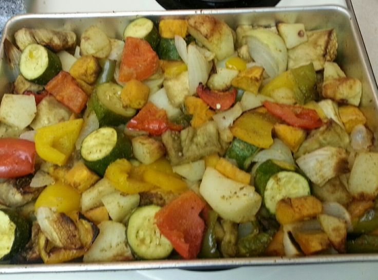 Oven Roasted Vegetables | easy and good!! | Pinterest