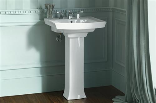 Archer Pedestal Sink : bathroom pedestal sinks Kohler K-2359-8-0 Archer Pedestal Lavatory ...