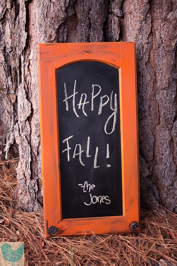 Custom Made Chalkboard... perfect for fall decor!