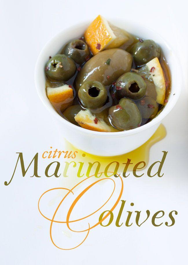 Citrus Marinated Olives Recipe #gameday #superbowl #appetizer