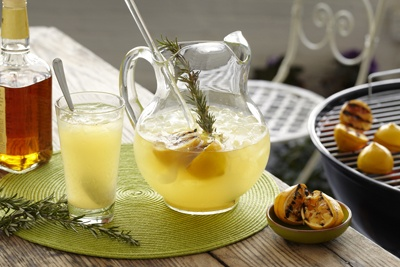 Grilled Lemonade -- made with grilled lemons and rosemary, it's the ...