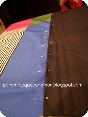 Para mi peque con amor: Pantalones sarouels. Cómo unir dos telas.