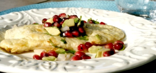 Chicken Paillards with Pomegranate Avocado Relish on MyRecipeMagic.com