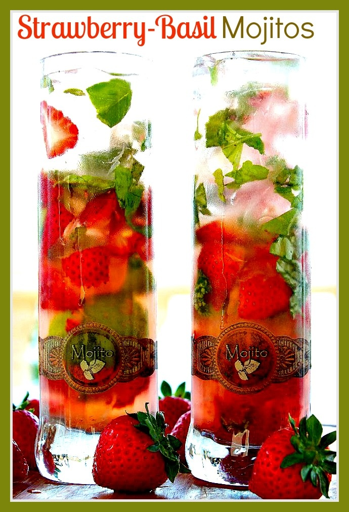 mojito is made with mint but this is a delicious twist with the basil ...