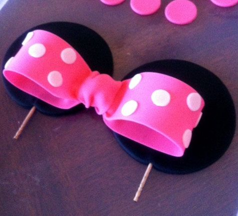 mickey ears cake topper