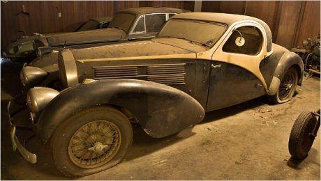 Rare 1938 Bugatti Atlante found in a New York City Garage in May 2007