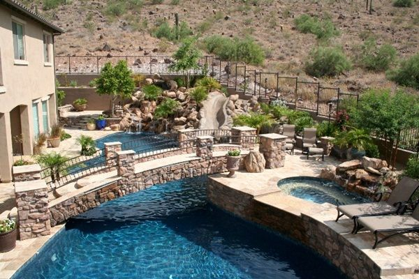 More Natural Back Yard Look Freeform Pools by Cameo Pools