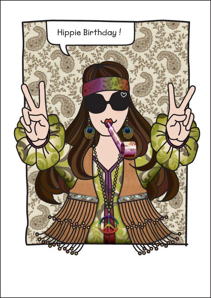hippie birthday images