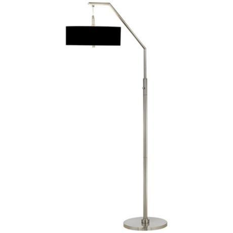 black shade arc floor lamp. Black Bedroom Furniture Sets. Home Design Ideas
