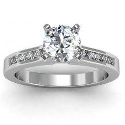 Princess Cut Diamond Engagement Ring set in 18k White Gold In stockSKU ...