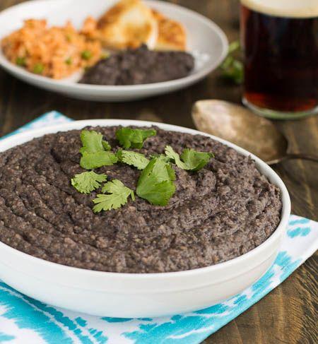 Refried Black Beans | Recipe