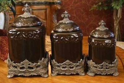 Picture Of Clic Tuscan Drake Brown Kitchen Canisters Set Stuff Pinterest Canister Sets And Kitchens
