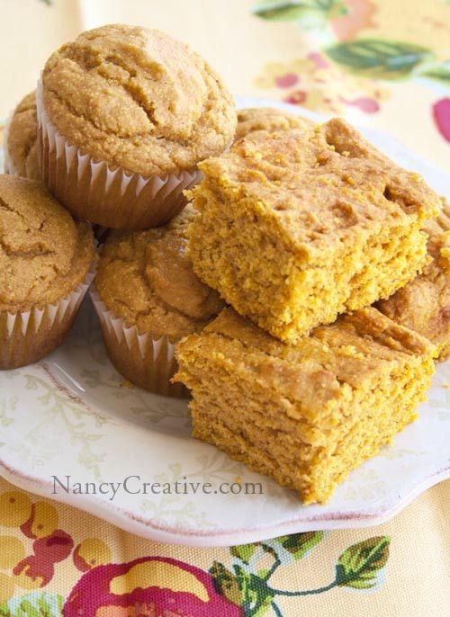Pumpkin Corn Bread or Muffins | food...yummy yummy | Pinterest