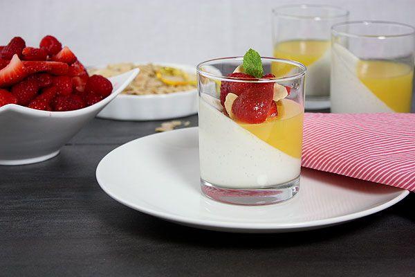 Greek Yogurt Panna Cotta from Grace's Sweet Life