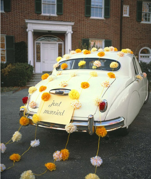 Just married sign car decor entertaining events fetes for Just married dekoration