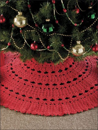 Crochet Xmas Tree Skirt : Hour Tree Skirt Crochet Christmas Pinterest