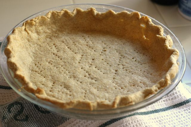 ... desserts » Easy Whole Grain, Shortening-Free Pie Crust, Version One
