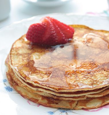 Cream Cheese Pancakes, good for low-carb diet if that's what you are on.