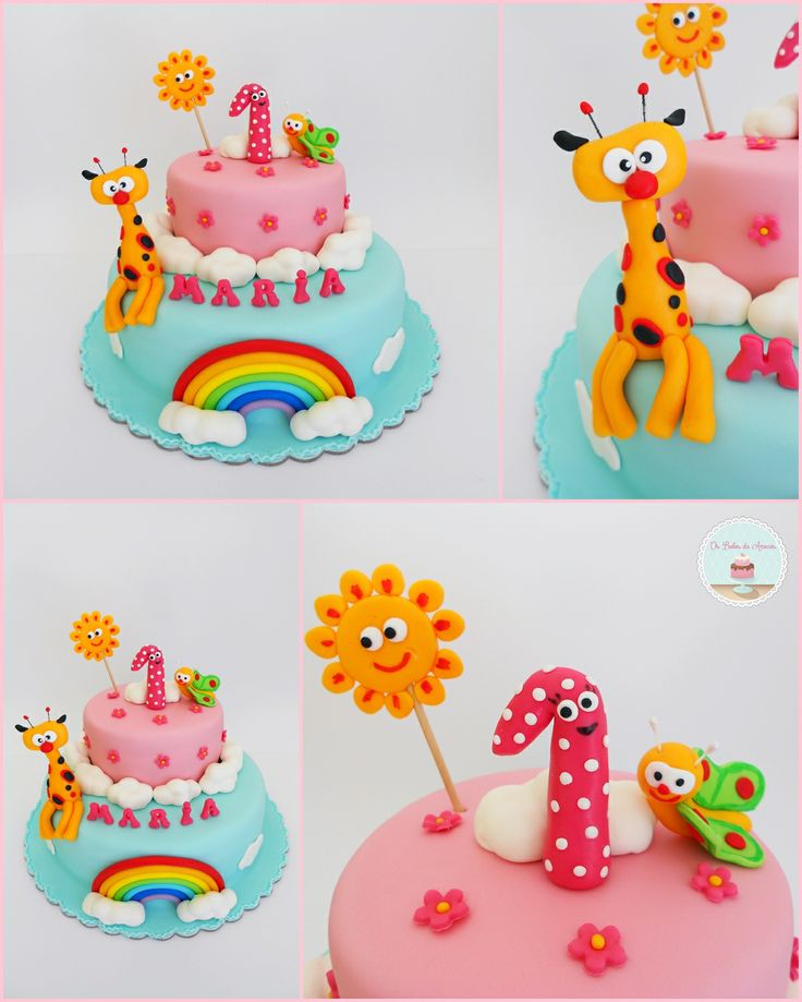 Baby tv cake os bolos da anocas pinterest for Baby tv birthday decoration