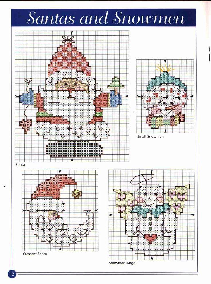 Схемы вышивки на новогоднюю схему 663