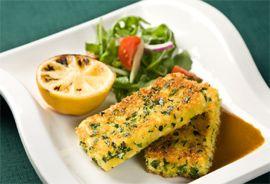 crispy tofu milanese with roasted lemon | Recipes | Pinterest