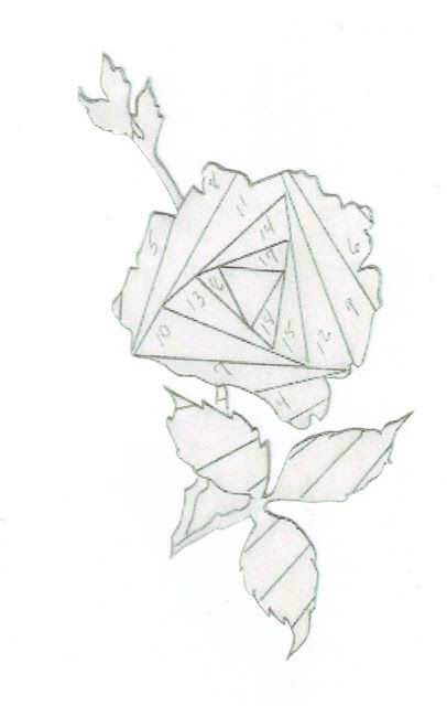 lt...pr/s | iris folding - flowers/greenery | Pinterest