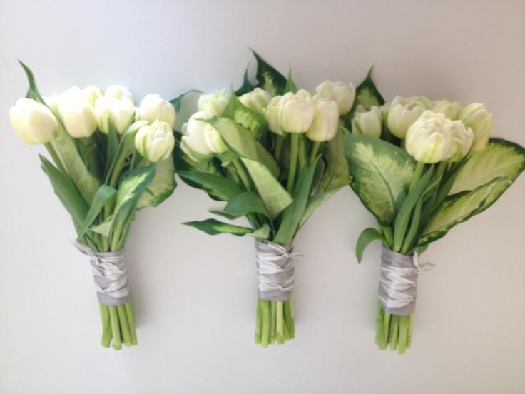 White tulip bouquets | ::Bride's Gerb:: | Pinterest