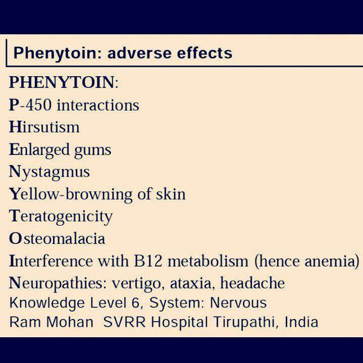 phenytoin adverse effects | Nursing Pharmacology | Pinterest