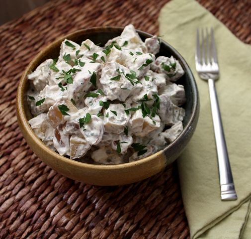 Barefeet In The Kitchen: Roasted Potato Salad with Fresh Herbs
