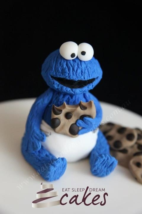 Cake Design By Damaris : Cookie Monster cake topper Fondant Creations Pinterest